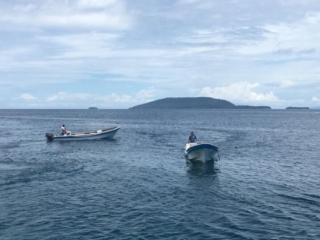 boats for diving from our cruise ship Coralia in Indonesia
