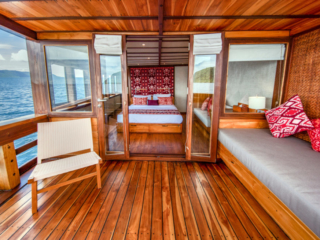 our ocean view cabin on Coralia Liveaboard Indoensia