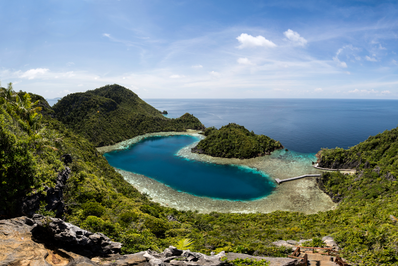 teluk cinta is a beautiful bay we visit with Coralia Liveaboard in Raja Ampat