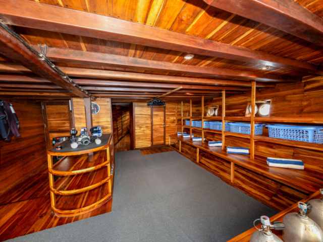 dive deck of Coralia Liveaboard