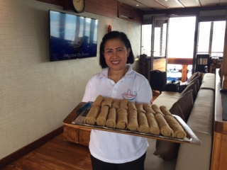 a member of our friendly service team on Coralia Liveaboard Indonesia