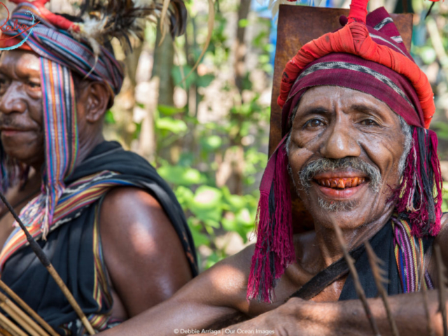 Abui tribe Chief in Alor with Coralia Liveaboard in Indonesia