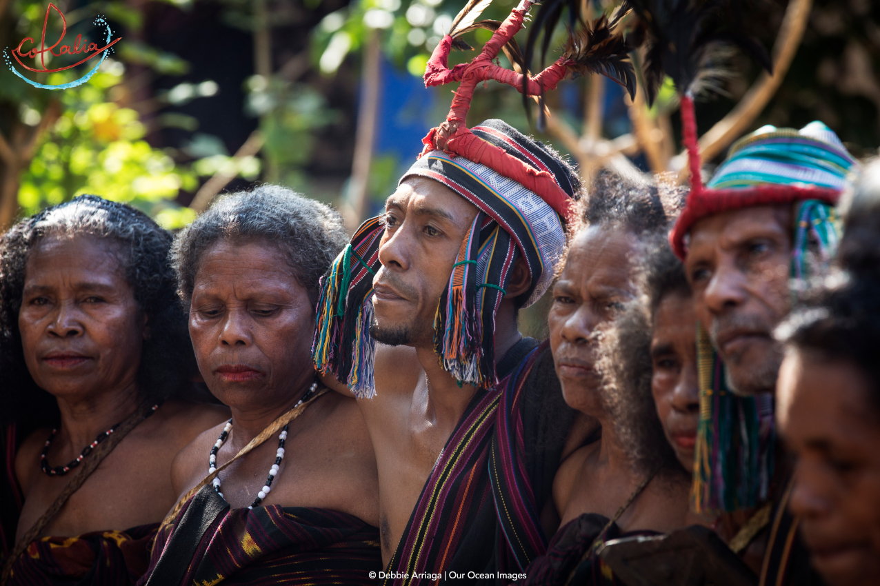 members of the Abui tribe dance in Alor