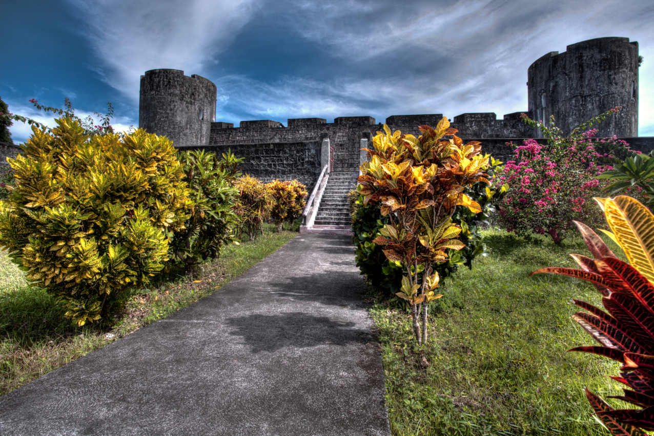 Dutch fort on Banda Neira in the Spice Islands with Coralia Liveaboard in Indonesia