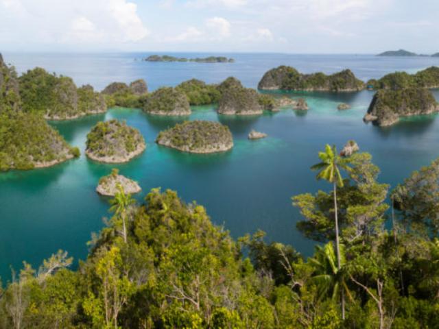 Panorama View of Penemu Island in Raja Ampat Indonesia