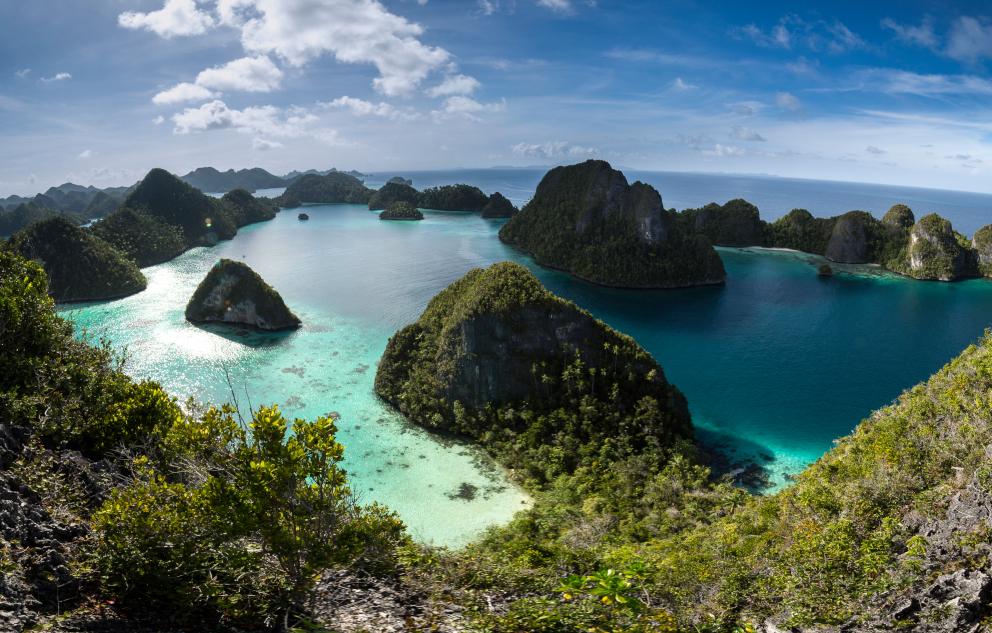 Wayag Island panorama in Raja Ampat Indonesia